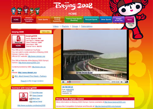 Olympics on You Tube