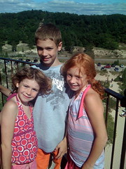 Em, Nate and Maddie at the Lighthouse
