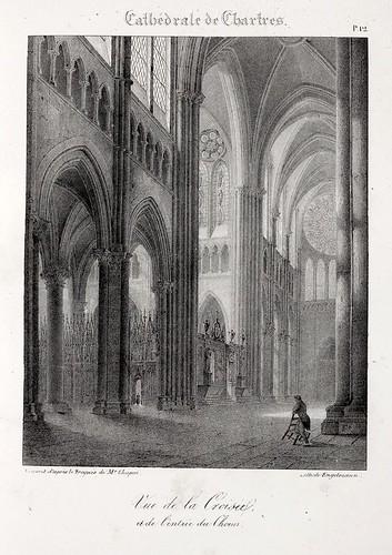 Chartres10- Vista del Crucero y la entrada del coro
