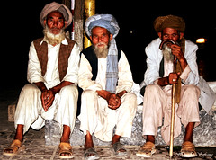The Three Old Pilgrims (From Afghanistan With Love) Tags: world old travel afghanistan digital canon beard eos rebel kiss shrine muslim islam religion stick turban pilgrim mazar mazaresharif zeerak xti safrang hamesha javaid