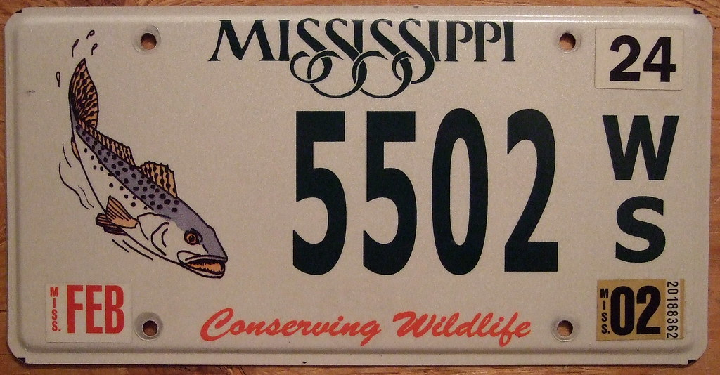 The world 39 s best photos of licenseplates and wildlife for Fishing license ms