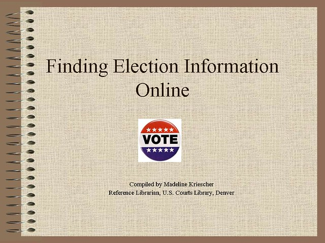 Finding Election Information Online by madelinerachel
