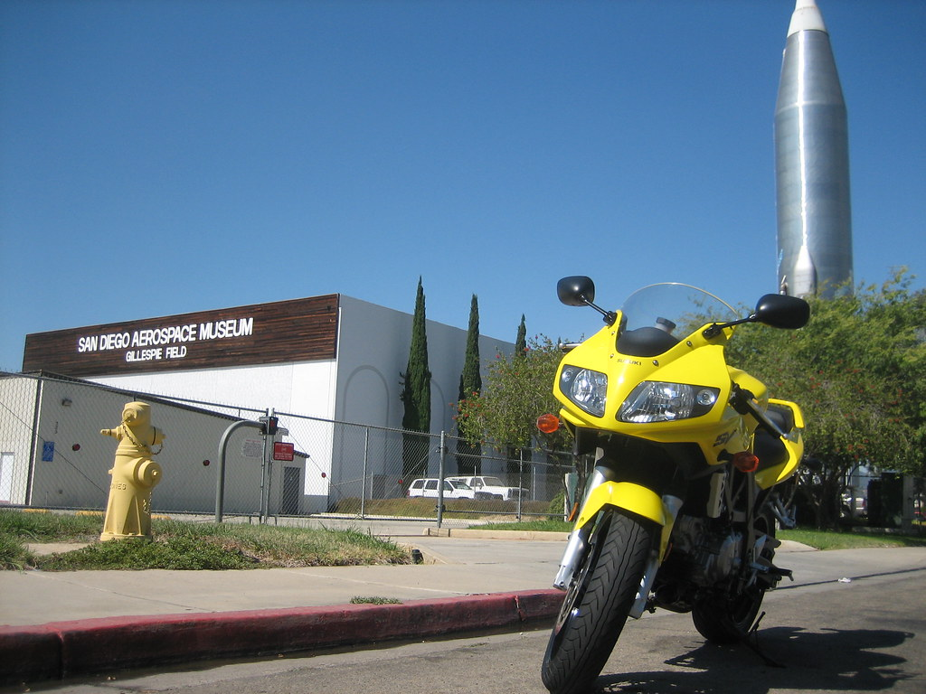 outside the San Diego Aerospace Museum