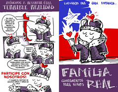 Díptico Familia Real - ReTiro (Jugo de Naranjo) Tags: family children comic royal niños dibujo abuso diptico