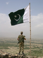 parcham e sitara o hilal (tango 48) Tags: pakistan people green observation soldier star post fort flag rifle khaki bamboo crescent pole valley bazaar wana fata islamabad observationpost pakistanflag