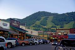 Jackson Wyoming - Downtown at dusk