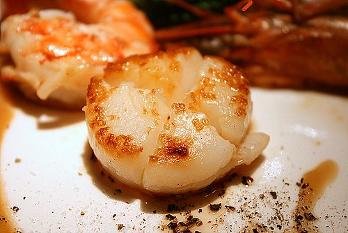 Beautifully grilled scallop