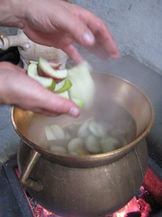 cooking the fruit