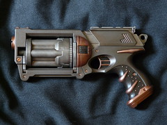 Maverick 2 (beeryusa) Tags: bronze paint gun finish scifi shooter custom nerf blaster paintjob maverick steampunk refinish repaint dieselpunk