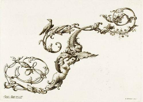 25-Letra T-Poggy Mauro 1750- Alfabeto di lettere iniciale