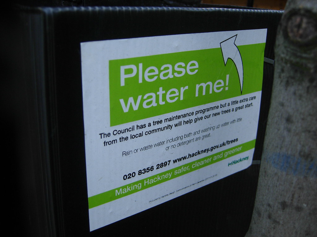 Watering sign on a Water Feeder device