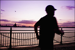 Sunset Jogger (mliebenberg) Tags: sunset liverpool docks landscapes waterfront mersey waterway merseyside markliebenberg markliebenbergphotography