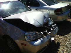 Brother's Car 1 (clubjuggler) Tags: car accident brother sl suzuki forenza