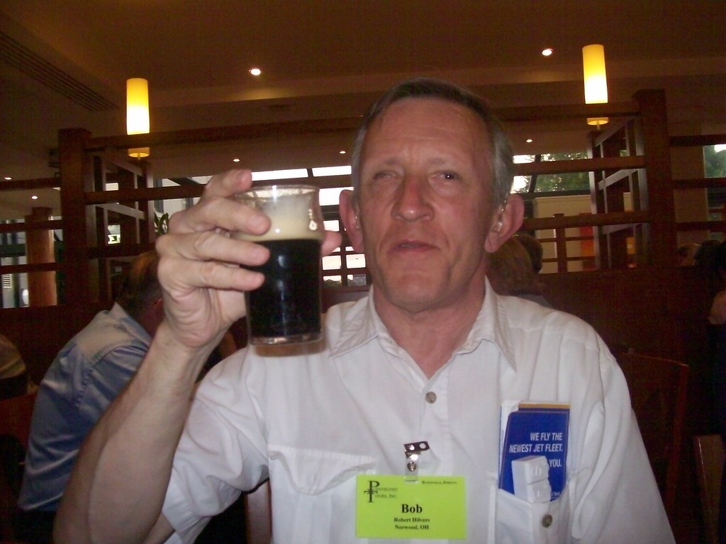 Ireland - Bob enjoying his first Guinness