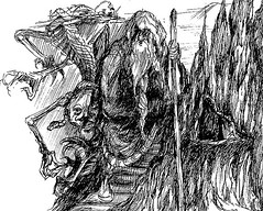 Sketchbook: Wizard & Oddities (shaire productions) Tags: mountain man art texture strange silhouette monster rock illustration pen ink dark beard skull sketch graphics stair artist place darkness graphic body drawing magic sketching arts shapes silhouettes rocky surreal illustrations drawings style sketchbook line odd artsy staff fantasy staircase tavern merlin figure scifi demon designs forms cave illustrator form draw pens drawn shape sketches oddity magical figures figurative illustrate inked realm bizaare drapery draped linework mountainous sherriethai shaireproductions