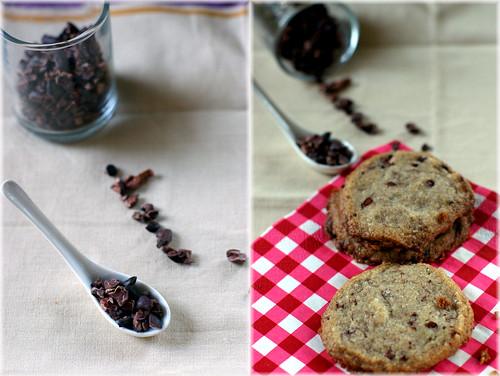 buckwheat cocoa nib cookies