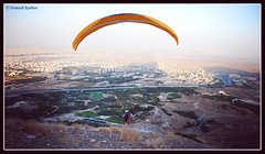 Take Off (Hamzeh Karbasi) Tags: mountain fly flying iran over persia glider paraglider ایران takeoff esfahan isfahan اصفهان کوه پرواز sofeh پرشیا فراز صفه پاراگلایدر گلایدر sofehmt