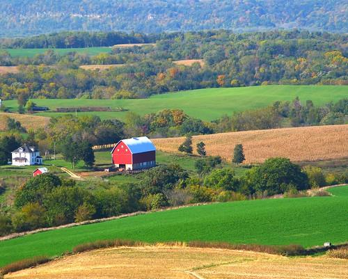 Iowa Farm Scene - Balltown Overlook by Don3rdSE
