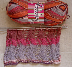 Knitting project: lace ribbon scarf (pacific_rin) Tags: knitting knit knitty veronikavery laceribbonscarf