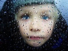 Boy (Mikael Colville-Andersen) Tags: blue boy portrait window face car rain mouth copenhagen denmark eyes felix raindrops melancholy 100faves lpfaces
