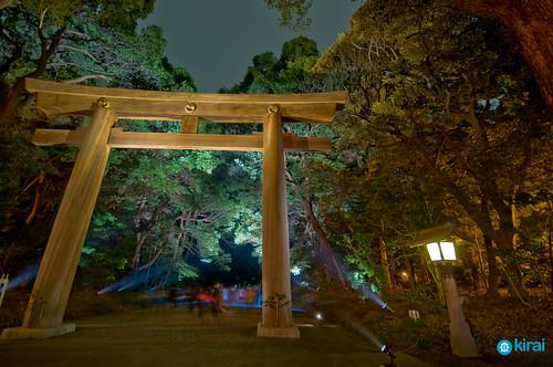 Meiji Jingu iluminado class=
