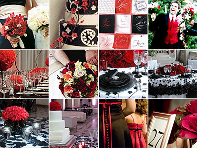 Black & White Weddings with Red por WedSmack.