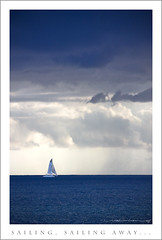 Sailing, Sailing Away... (Rex Maximilian) Tags: ocean sea storm rain clouds sailboat hawaii boat sailing pacific oahu shore honolulu kakaakopark ceciliokapono cecilioandkapono kaka'akopark
