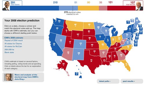 CNN Electoral Map Calculator - Election Center 2008 from CNN.com by you.