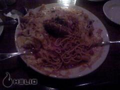 Three Way Pasta under a Sauage (Da Fong) Tags: with take helio garozzoristorante
