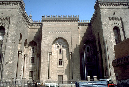 The Mosque of al-Rifai in Cairo: Main or southeastern facade of the Mosque overlooking the Maydan of Salah al-Din