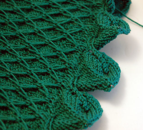 Knitting Stitches That Donot Curl : Jade Wrap Update: Quilting, Waves and Borders That Don t Curl