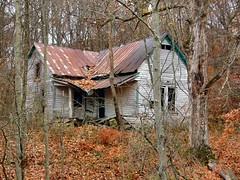 Broken House (cindy47452) Tags: autumn house fall abandoned broken ruins indiana 100views 400views 300views 200views decayed tinroof washingtoncounty