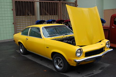 1973 Chevrolet Vega (Brain Toad) Tags: california cars chevrolet car yellow vehicles chevy vehicle 2008 vega pleasanton 1973 carshow goodguys goodguys19thannualautumngettogether