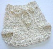 Natural Colored Crocheted BFL Wool Soaker (Medium)