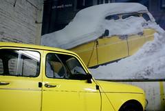 Wien, CAT - Contemporary Art Tower (Supermietzi) Tags: vienna wien auto art car yellow jaune concrete kunst renault bunker gelb installation r4 beton flakturm gefechtsturm catcontemporaryarttower birgitjrgenssen