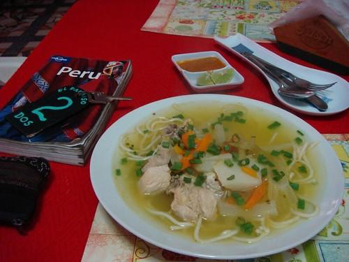 Sopa de Pollo. Chilca, Peru.