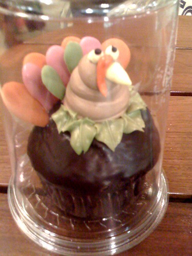 Whole Foods Union Square turkey cupcake