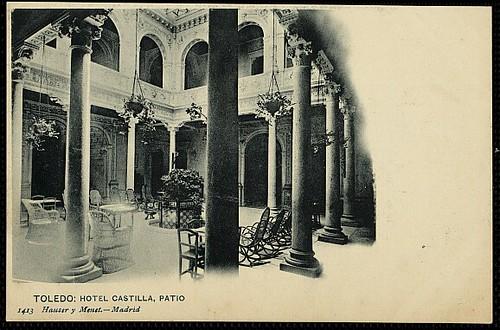 Hotel Castilla (Toledo), interior. Foto Hauser y Menet