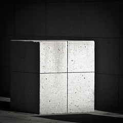 The cube (manganite) Tags: california light bw usa sun white abstract black geometric lines santabarbara composition contrast digital america campus square geotagged concrete high nikon university shadows cross tl squares main cube d200 minimalism nikkor dslr minimalistic ucsb goleta 18200mmf3556 utatafeature manganite nikonstunninggallery repost1 date:year=2008 date:month=july date:day=22 geo:lat=3441581 geo:lon=119841576 format:orientation=square format:ratio=11