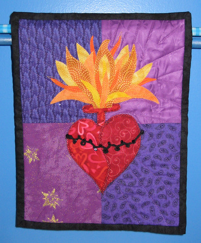sacred heart quilt wall hanging