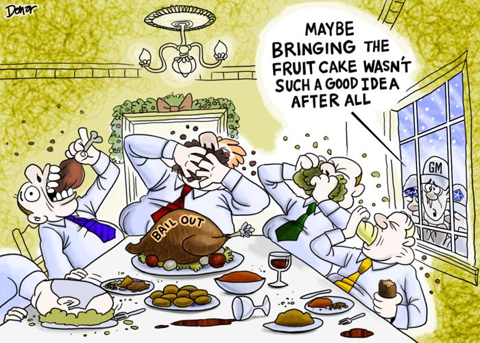 big 3 bailout cartoon
