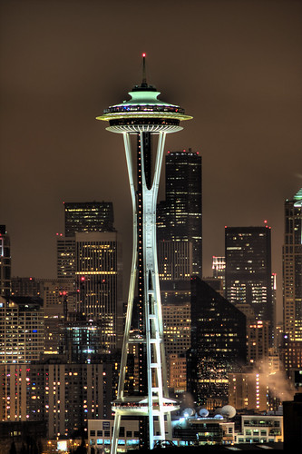 Space Needle at Night 1