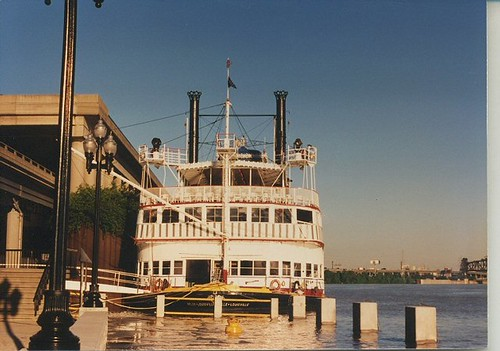 The Belle of Louisville sternwheel steam boat. Louisville Kentucky. May 1990. by Eddie from Chicago