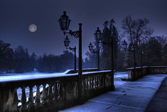 Notturno Italiano (Franco Ferri Mala) Tags: city travel blue italy moon colour night europe save3 save7 save8 save save2 luna save9 save4 fourseasons save5 save10 save6 magical monza savedbythedeletemeuncensoredgroup save11 save12 5photosaday villareale colorphotoaward infinestyle goldstaraward 100commentgroup artofimages bestcaptureaoi lightiq