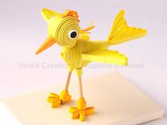 Bird. 3D quilling