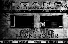 The Pawnbroker (Robin Dude) Tags: diamonds washington guitars rifles tools bellingham wa guns pawn bombshelter pawnshop loans franksplace canon580exiispeedliteflash