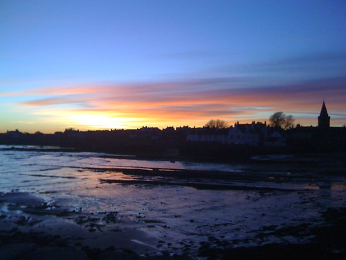 Sunset over Anstruther