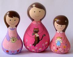 As Dondoquinhas!!! (Belle Bellica) Tags: flowers flores painting bonecas dolls madeira pintura torno