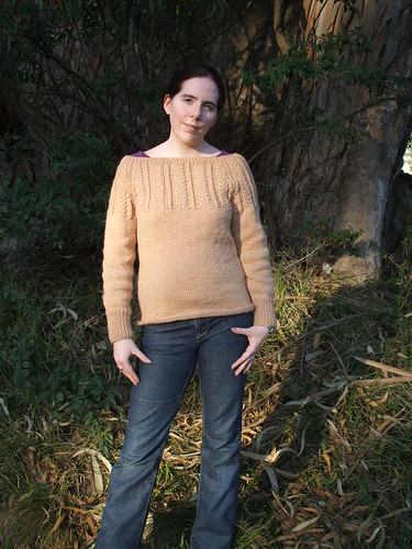 Wheat Ear Cable Yoke Pullover