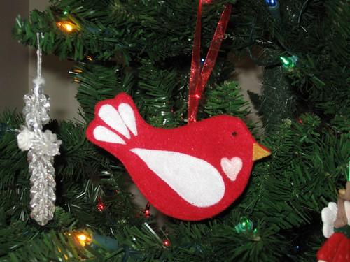 Birdie Felt Ornament 2